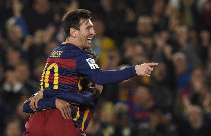 La felicidad. Messi hizo tres y le cometieron un penal.