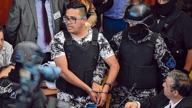 Hace meses. Una imagen de Guille Cantero en el reciente juicio en Rosario