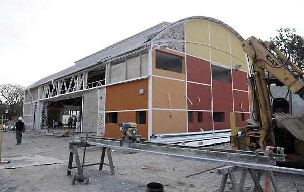 Centro de operaciones. La obra en el galpón donde estarán los hangares y las oficinas.