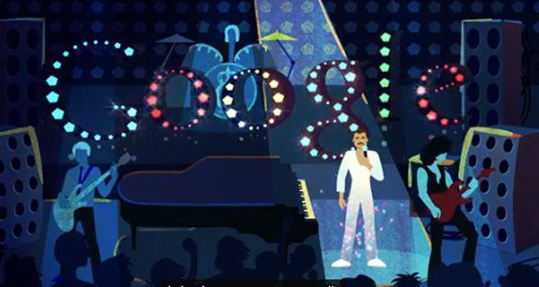 Freddie Mercury cumpliría hoy 65 años y Google lo homenajea con un espectacular doodle