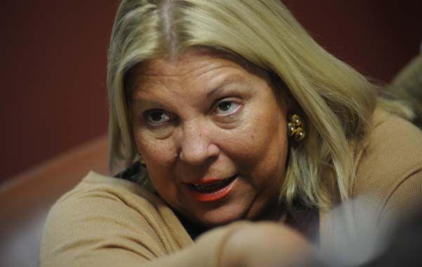 La legisladora volvió a apuntar los cañones contra el gobierno.