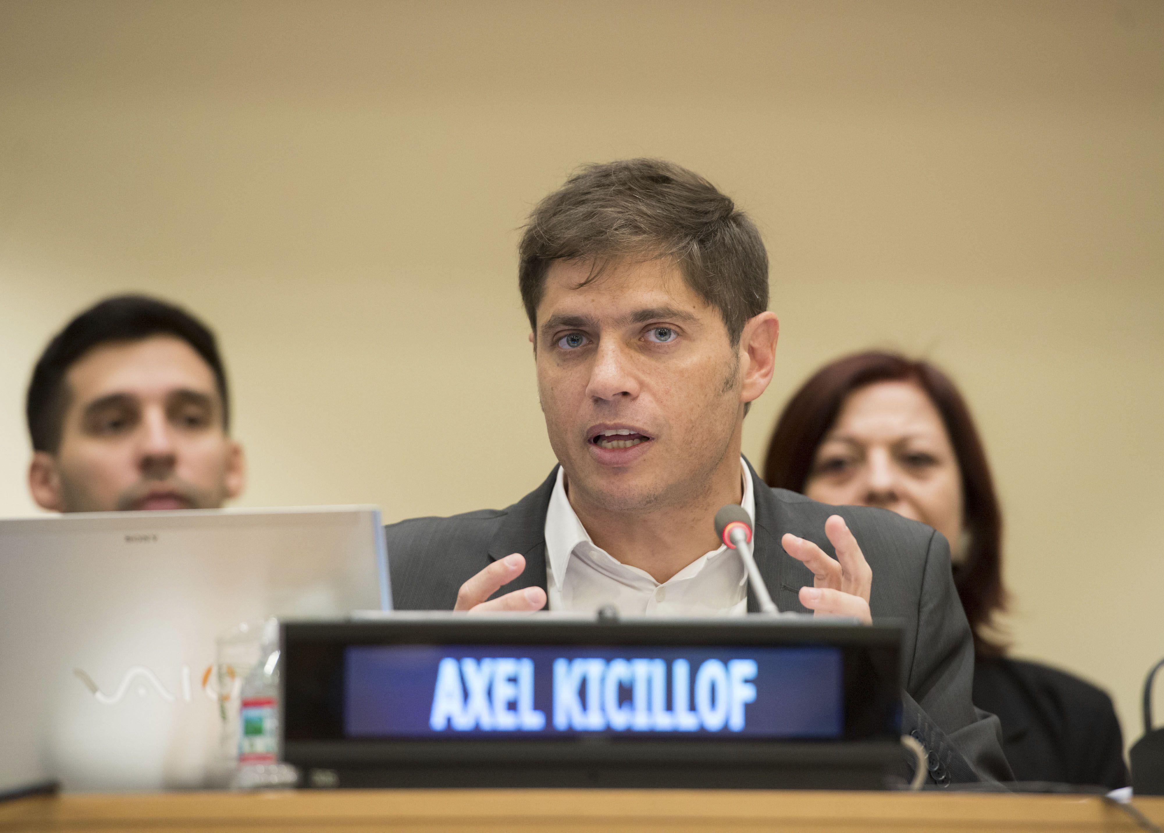 ONU. Kicillof disertó en el comité para definir un nuevo marco legal.