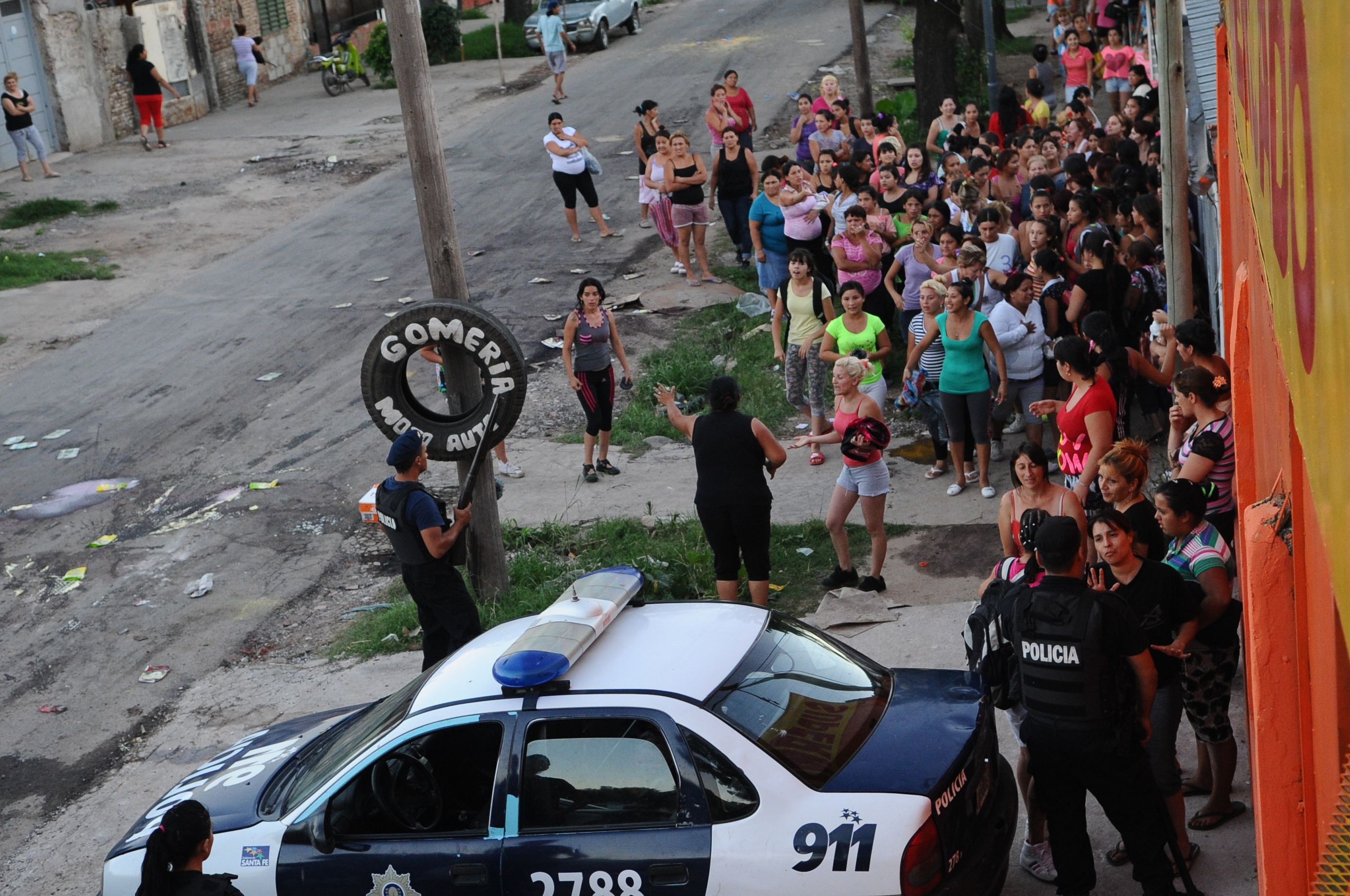 Fein insistió en que hubo instigadores pero defendió el accionar policial. (Foto: F.Guillén)