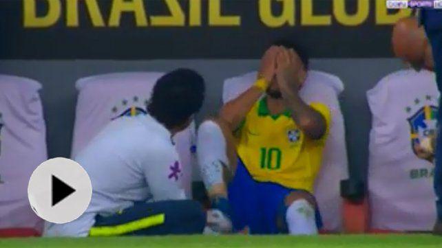 Neymar sufre rotura de ligamento en el tobillo derecho y no jugará la Copa América