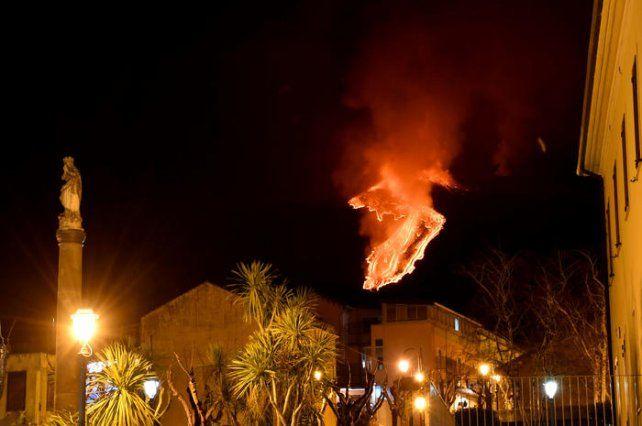 La erupción del Etna