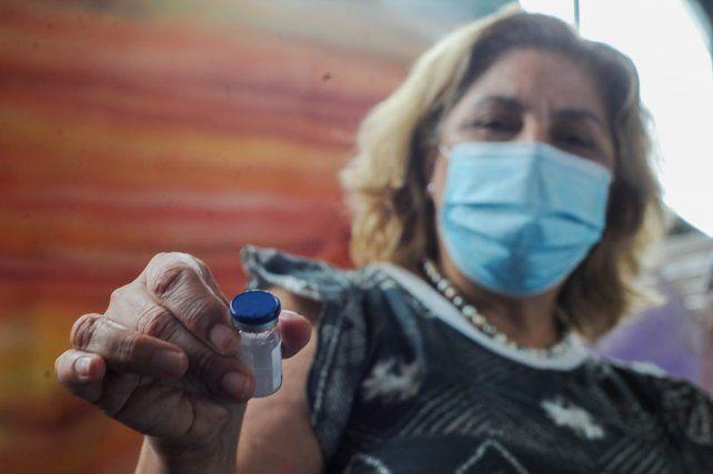 """""""La primera entrega ya fue completada"""", aseguró la ministra de Salud de Santa Fe, Sonia Martorano. Foto: Celina Mutti Lovera"""