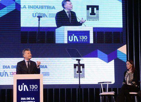 tribuna amiga. Macri y Vidal hablaron en el foro empresario.