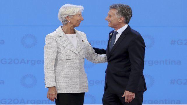 Aliados. El gobierno de Cambiemos endeudó al país nuevamente con el FMI.