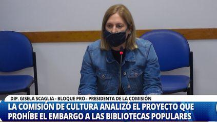 La diputada nacional Gisela Scaglia, preside la comisión de Cultura de la Cámara Baja.