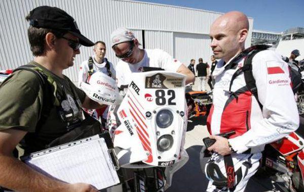 El motociclista polaco Michal Hernik.