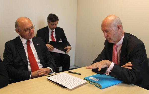 El canciller Timerman y el jefe de la OMC