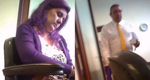 Fotogramas del video filmado por Blanche al juez Juan Carlos Vienna.