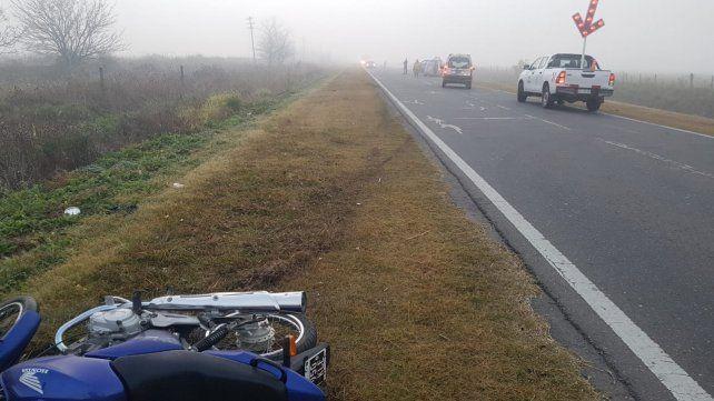 El accidente ocurrió entre Pérez y Zavalla.