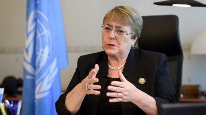 Michelle Bachelet rompió el silencio sobre la ola de protestas duramente reprimida en Cuba.