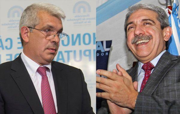 El diputado Julián Domínguez y el ministro Aníbal Fernández.