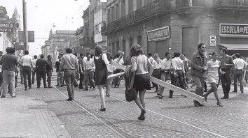 En la calle. Clase obrera y estudiantes fueron los protagonistas fundamentales.