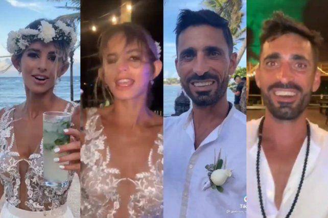 Un divertido video de TikTok muestra a los participantes de una fiesta de casamiento al principio y al final de la boda.