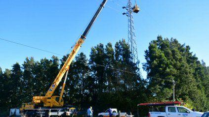 Soldini. La EPE hizo tareas de mantenimiento junto a la cooperativa.