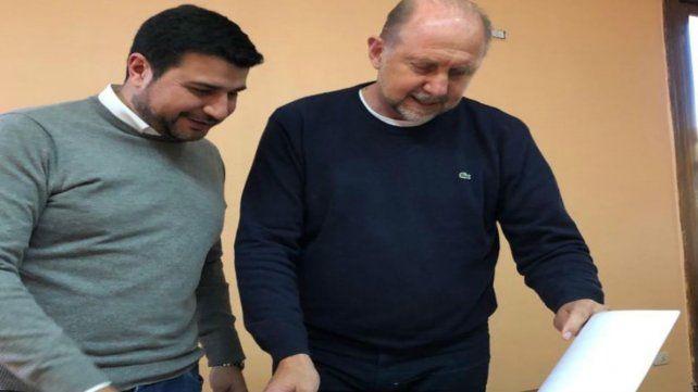 Marcos Cleri y Omar Perotti.