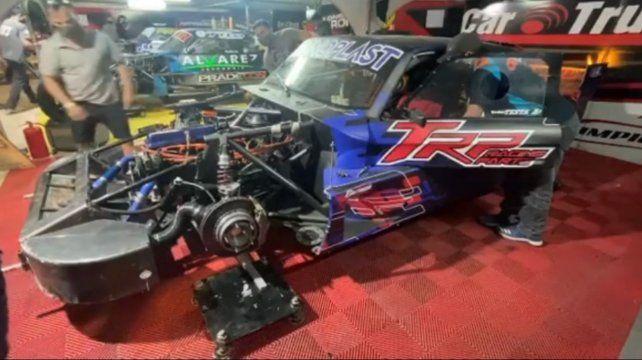 El Ford de Renzo del TCP Mouras. Ayer tuvo problemas de caja y espera mejorar hoy en clasificación.