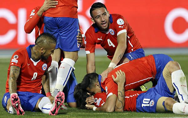 A puro fútbol. Vidal