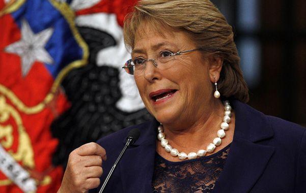 A paso firme. La presidenta chilena habló a la prensa sobre sus proyectos.