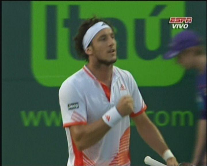 Pico Mónaco vapuleó a Roddick en el Masters 1000 de Miami y avanzó a cuartos