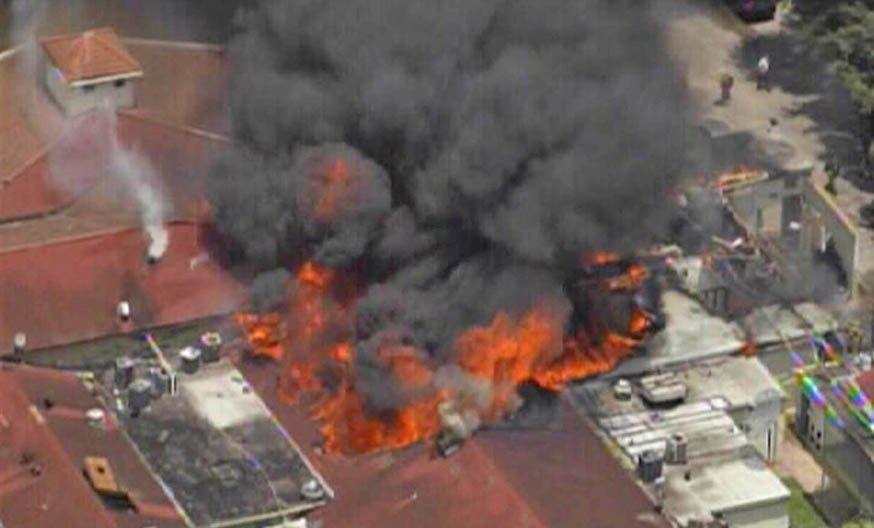 Tragedia. Imagen de video captada en el momento de las mayores llamas.