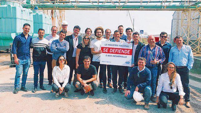 Recorrida. La joven delegación visitó ayer Rosario Bioenergy S.A