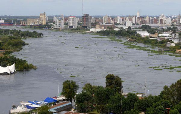 Crítico. El avance de las aguas amenaza la costa santafesina