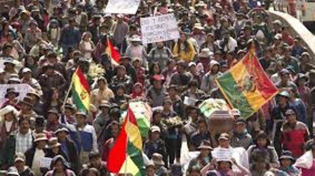 Ayer las marchas estuvieron mayormente dominadas por productores cocaleros