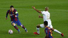 Messi condujo al Barsa y marcó de penal.