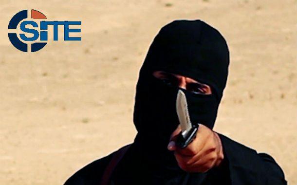 El terror. Imagen de video de un militante del EI