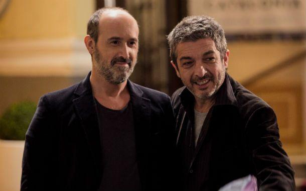 El actor junto al director Cesc Gay (izquierda).