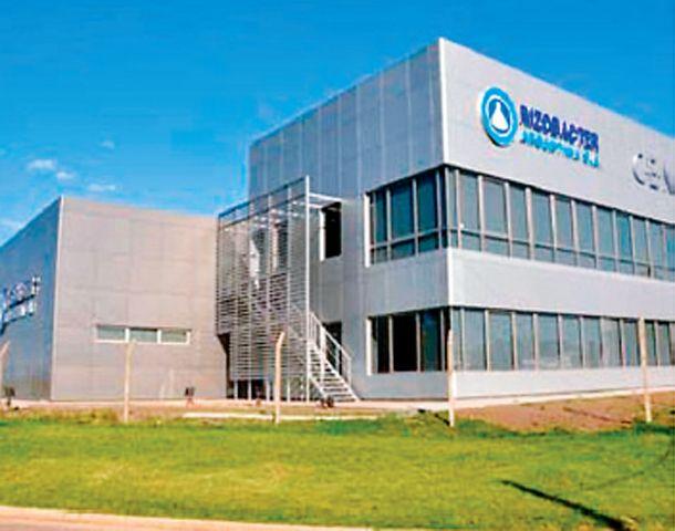 Sede de la empresa Rizobacter en la ciudad de Pergamino.