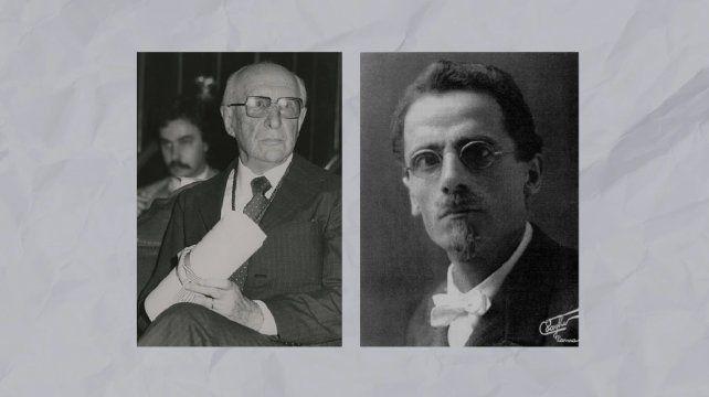 Los matemáticos Luis Santaló y Beppo Levi.