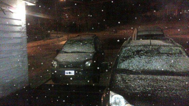 La insólita nevada comenzó de madrugada