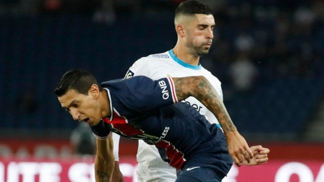 Di María fue acusado de escupir a Alvaro Gonzálezen el encuentro entre el PSG