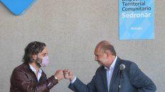 Santiago Cafiero y Omar Perotti, ayer en Rafaela para inaugurar un Dispositivo de Abordaje Territorial.