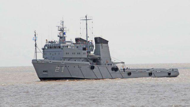 El ARA Islas Malvinas participa en las tareas de búsqueda del San Juan .