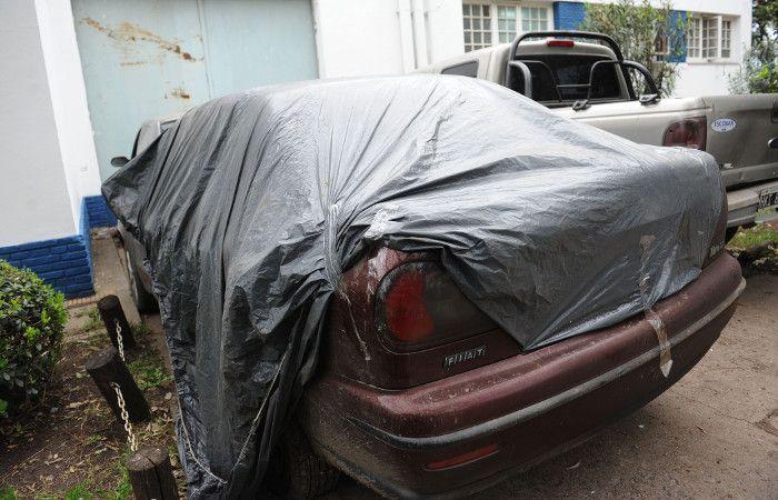 El Fiat Marea que conducía Mafud cuando fue perseguido por los policías.