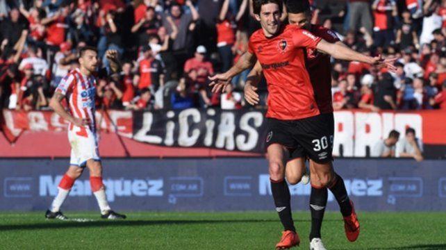 Empezó bien. Albertengo lleva dos goles en la Superliga. Facturó ante los santiagueños y Unión.