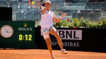 Nadia Podoroska no pudo prolongar su tenis superlativo, el que la llevó a vencer nada menos que a Serena Williams.