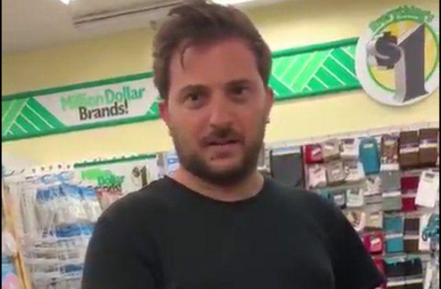 El panelista de Intrusos Diego Brancatelli fue sorprendido en un supermercado en Miami.