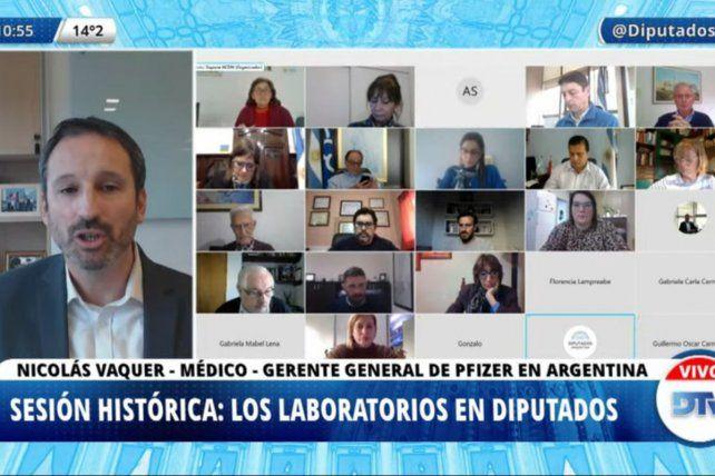 SESIÓN. El gerente general de Pfizer Argentina