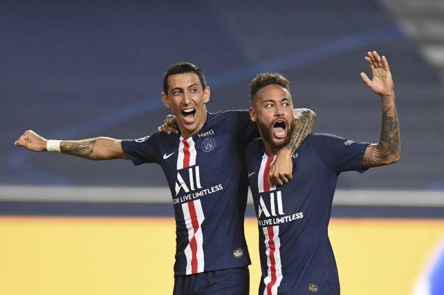 Di María una de las grandes figuras en el triunfo de PSG. El otro fue Neymar.
