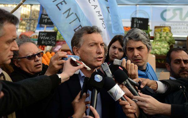 Promesa. Macri dijo que de llegar a la Rosada tiene un plan de reactivación. (NA)