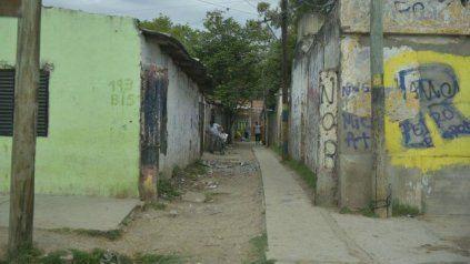 El pasillo de Biedma al 100 bis donde mataron a Sergio Emanuel Lorio en 2018.