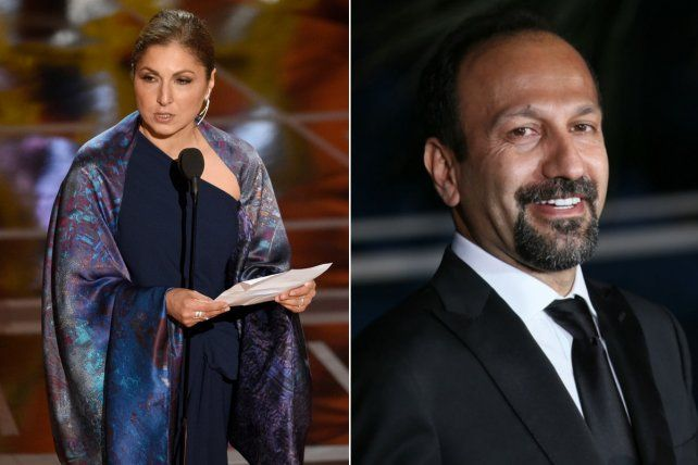 Anousheh Ansari recibió el premio porAsghar Farhadi y leyó una carta que cuestionó a Donald Trump.