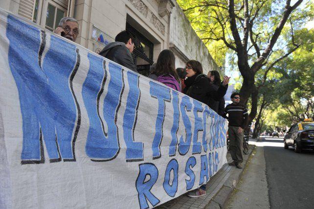 Lucha. Las multisectoriales encabezaron la pelea contra el tarifazo.